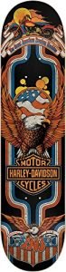 Dark Star 10012502 Harley Davidson Eagle Deck, Blue, Size 8.0