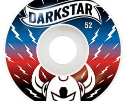 Darkstar Axis Skateboard Wheel, Blue/Red, 52mm