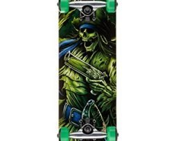 Darkstar Pirate Youth Mid Complete Skateboard, Green, MD7.5