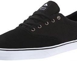 Emerica Men's Provost Slim Vulc Skateboarding Shoe, Black/White, 10.5 M US