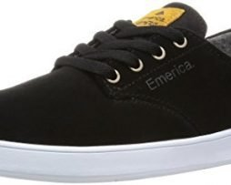 Emerica Men's THE ROMERO LACED Shoe, black/black/white, 9 Medium US
