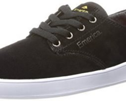 Emerica Men's The Romero Laced Skateboard Shoe, Black/White, 10.5 M US