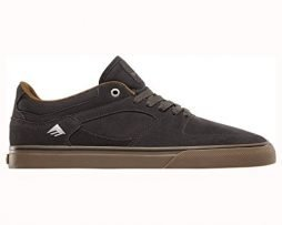 Emerica Men's the Hsu Low Vulc Skate Shoe, Dark Grey, 9 Medium US