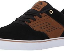 Emerica Men's the Reynolds Low Vulc Skate Shoe, black/tan, 11 Medium US