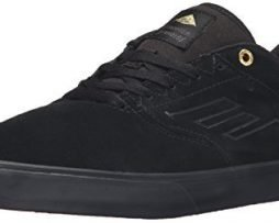 Emerica Men's the Reynolds Low Vulc Skateboarding Shoe, Black/Gold, 9.5 M US