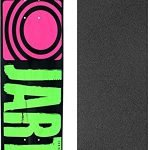 "Jart Skateboards Classic Green Skateboard Deck - 7.5"" x 31.47"" with Black Magic Griptape - Bundle of 2 items"
