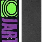 """Jart Skateboards Classic Purple Skateboard Deck - 8.25"""" x 32.18"""" with Mob Grip Perforated Griptape - Bundle of 2 items"""