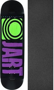 "Jart Skateboards Classic Purple Skateboard Deck - 8.25"" x 32.18"" with Mob Grip Perforated Griptape - Bundle of 2 items"