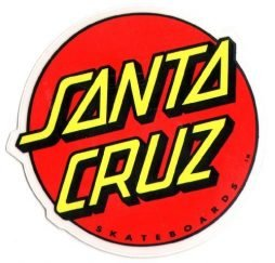 Santa Cruz Classic Logo Skateboard Sticker - large skate board skating skateboarding