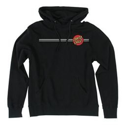 Santa Cruz Skateboards Classic Dot Hooded Pullover Sweatshirt  (Large, Black)