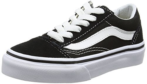 Vans Kids K Old Skool Black True White Size 1.5 | Online ...