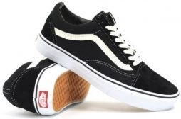 Vans Unisex Old Skool Skate Shoe (11.5 B(M) US Women / 10 D(M) US Men, Canvas Black/True White)