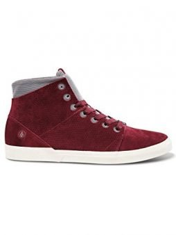 Volcom Men's Buzzard Burgundy Suede 7.5 D – Medium