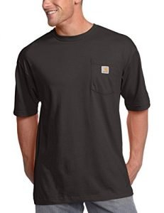 Carhartt Men's Big & Tall Workwear Pocket Short Sleeve T-Shirt Original Fit K87,Black,3X-Large Tall