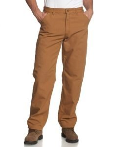 Carhartt Men's Washed Duck Work Dungaree Utility Pant B11,Carhartt Brown,34 x 34