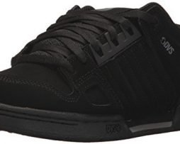 DVS Men's Celsius Skate Shoe, Black/Black Nubuck, 11 Medium US