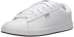 DVS Men's Revival 2 Skate Shoe, White Leather, 13 Medium US
