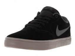 Nike Mens SB Check Solarsoft Skate Shoe (9.5 M US, Black/Anthracite-Gum Dark Brown)