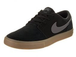 NIKE 880266-009 : Men's SB Portmore II Solar Black/Dark Grey Skate Shoe (8)