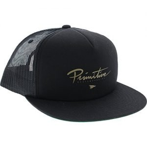 Primitive Skateboarding Core Foam Black / Gold Mesh Trucker Hat - Adjustable