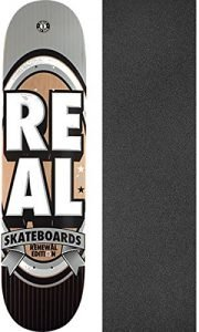 "Real Skateboards Renewal Stack Silver Skateboard Deck - 8.06"" x 32"" with Jessup Griptape - Bundle of 2 items"