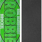 "Real Skateboards Robbie Brockel Oval Assorted Colors Skateboard Deck - 8.5"" x 32.18"" with Black Magic Griptape - Bundle of 2 items"