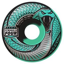Spitfire Formula Four 101D Snake Bite Swirl Radial Slim Skateboard Wheels (Set of 4)