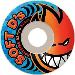 Spitfire Soft D's 92d (White) 56MM Wheels