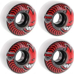 Spitfire Wheels 80HD Charger Classic Clear/Red Skateboard Wheels – 54mm 80a (Set of 4)