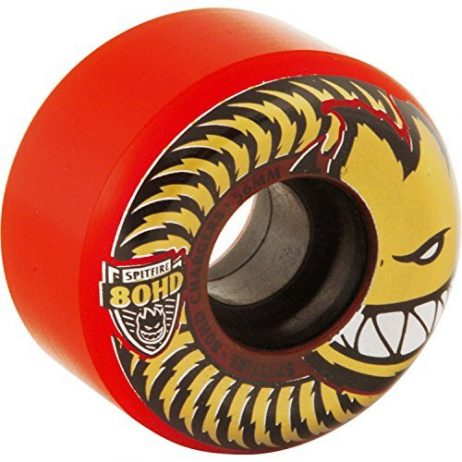 Spitfire Wheels 80HD Charger Conical Red / Gold Skateboard Wheels - 56mm 80d (Set of 4)