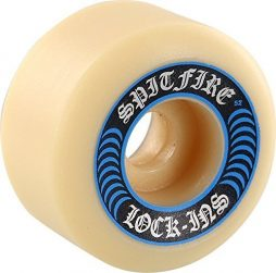 Spitfire Wheels Formula Four Lock-Ins White / Blue Skateboard Wheels – 52mm 99a (Set of 4)