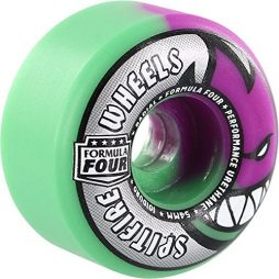Spitfire Wheels Formula Four Radials Purple / Mint Skateboard Wheels – 54mm 101a (Set of 4)