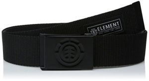 element Young Men's Leather Belts Accessory, -beyond all black/medium, ONE