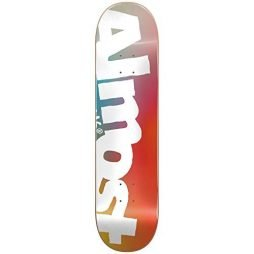 ALMOST Side Pipe Blurry Deck, Blue/Red/Yellow, Size 8.5