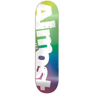 ALMOST Side Pipe Blurry Deck, Green/Blue/Pink, Size 8.25