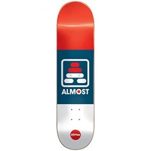 Almost 100231021 Alif Deck, Red/White/Blue, Size 7.75
