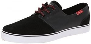 C1RCA Men's Crip Synthetic Fashion Sneaker,Black/White/Pompeian Red,7 M US