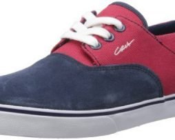 C1RCA Men's Valeo Fashion Sneaker,Blue/Red Twill,12 M US