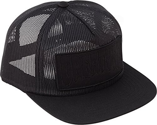 79d12309234 Creature Skateboards Reverse Patch Black Mesh Trucker Hat - Adjustable