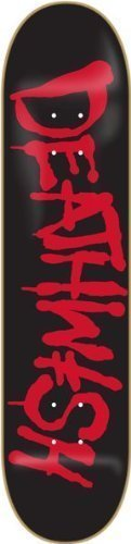 Deathwish Street Spray Skateboard Deck, 8.25, Black/Red