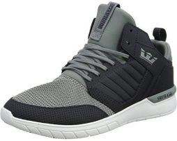 Supra Method Skate Shoe, Dark Grey/White, 12 Regular US