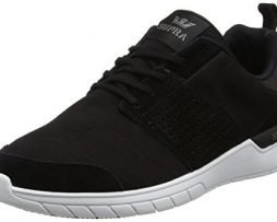 Supra Scissor Skate Shoe, Black-Charcoal, 9 Regular US