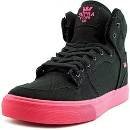 Supra Kids Vaider Shoes Size 6 Black - Hot Pink