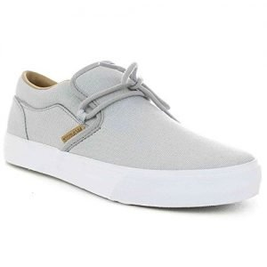 Supra Mens Cuba Shoes Size 10 Light Grey - White
