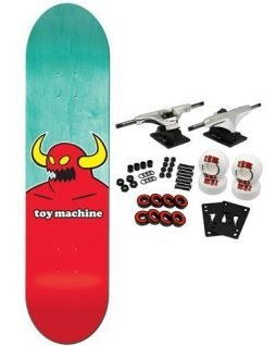 TOY MACHINE Complete Pro Skateboard MONSTER MEDIUM (assorted colors) 7.75
