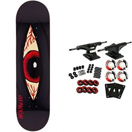 Toy Machine Skateboard Complete Bloodshot Black 8.125