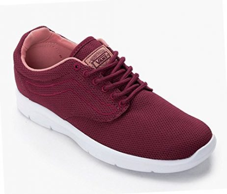 Vans Iso 1.5 Mesh Beet Red/White Men's Classic Skate Shoes Size 9.5