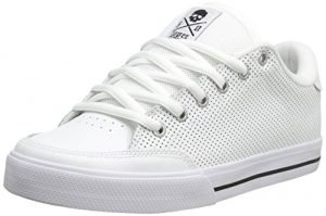 C1RCA AL50 Skate Shoe, White Perforated/Black, 10 M US