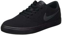 NIKE Unisex SB Check Solar Cnvs Black/Anthracite Skate Shoe 10.5 Men US/12 Women US