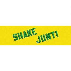 "SHAKE JUNT Skateboard Griptape YELLOW/GREEN 9"" x 33"" Sheet"